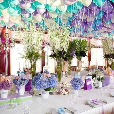 Turquoise And Purple Wedding Theme