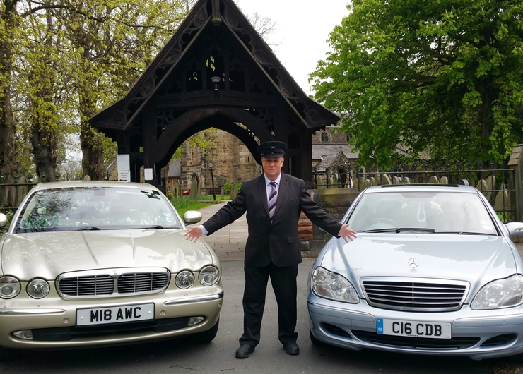 Our fleet with our head chauffeur