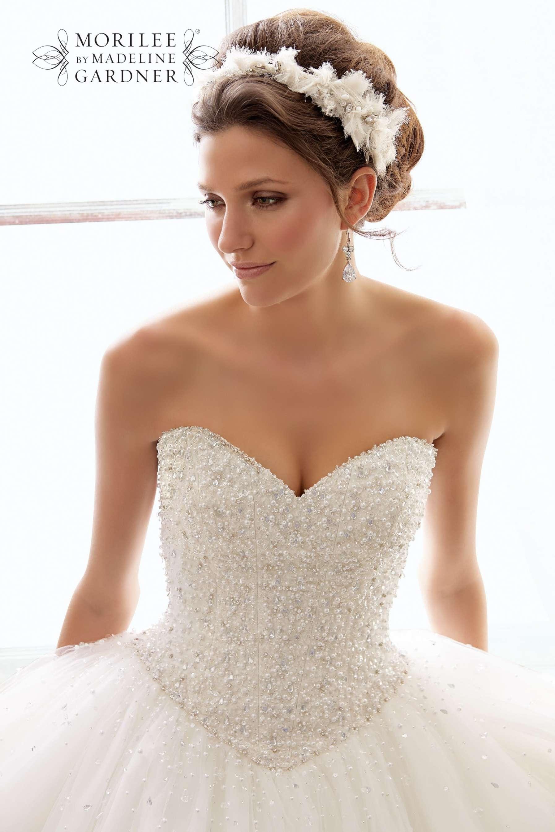 White Ball Gown Wedding