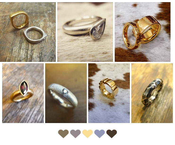 Unique handmade wedding rings