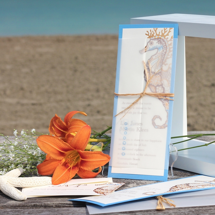 Destination Beach Wedding Invitation