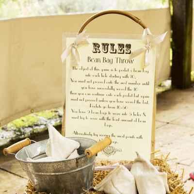 Rustic brown wedding signs