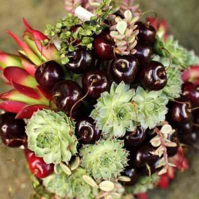 Fruit summer alternative wedding bouquet