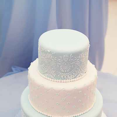 Vintage blue wedding cakes