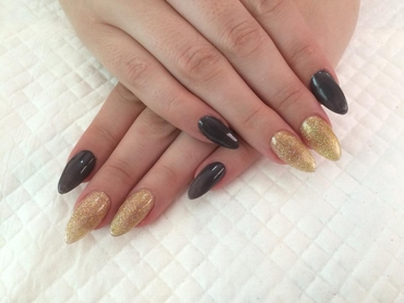 Black wedding nail design