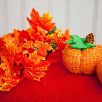 Autumn orange photo session decor