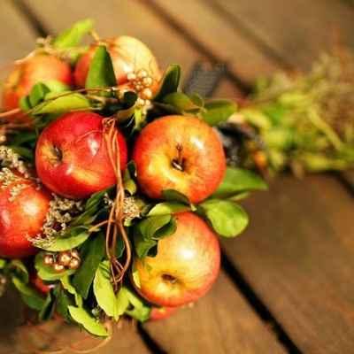 Fruit autumn alternative wedding bouquet
