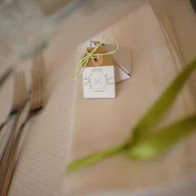 Ivory wedding favours