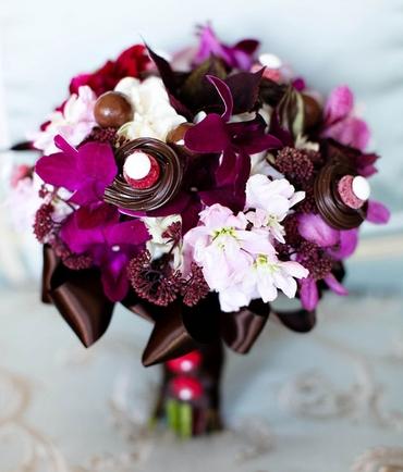 Brown calla wedding bouquet