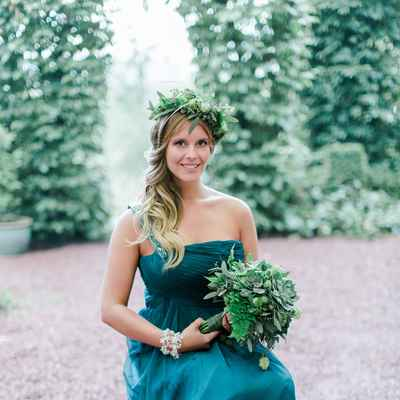 Outdoor blue long wedding dresses