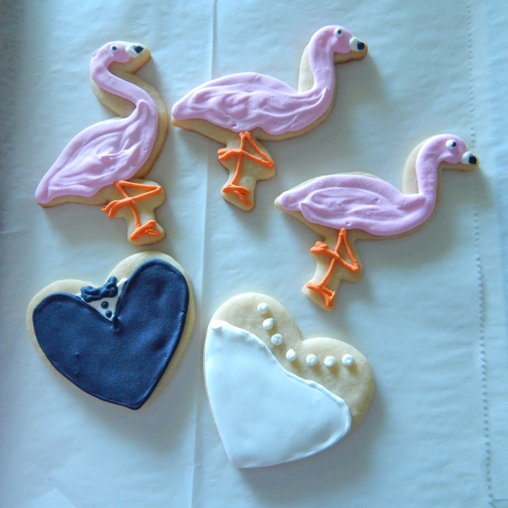 Beach Wedding Cakes and Cookie Favors