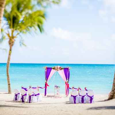 Overseas pink wedding ceremony decor
