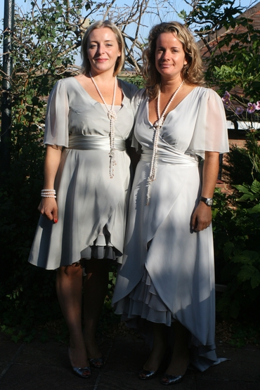 Grey bridesmaids