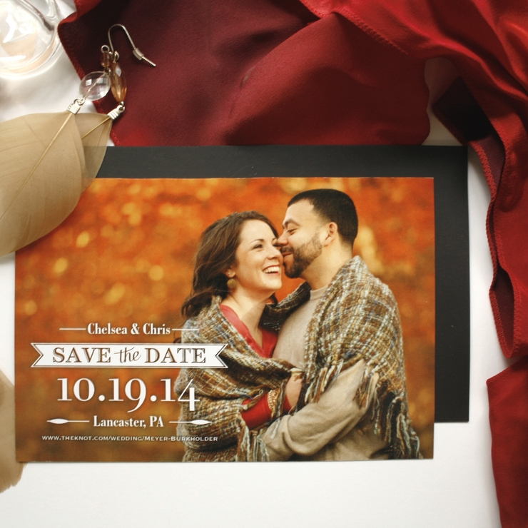 Full Color Fall Save the Dates
