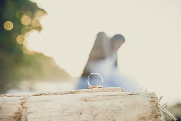 Beach wedding rings
