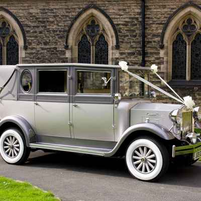 Grey wedding transport