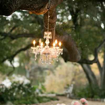 Pink outdoor wedding reception decor
