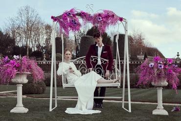 Ethnical ivory long wedding dresses