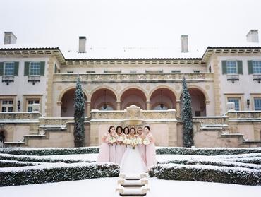 Winter bridesmaids