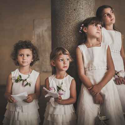 Ivory kids at wedding