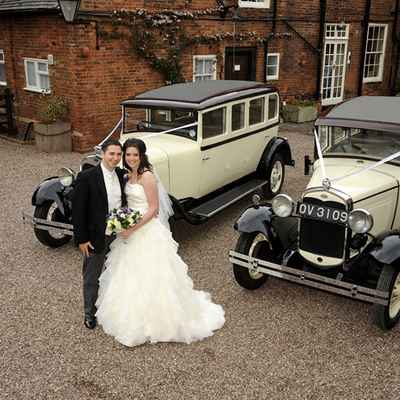 Vintage ivory wedding transport