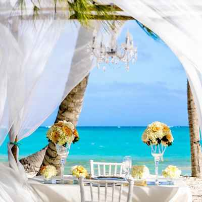 Beach yellow photo session decor