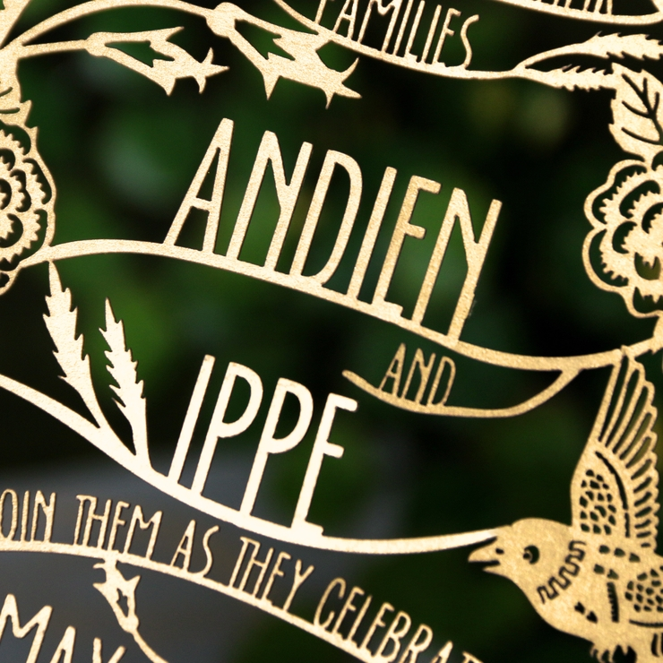 Andien Ippe Wedding Invitation
