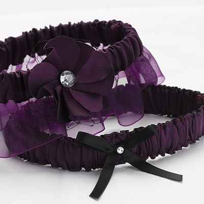 Purple wedding headpieces, veils, cover-ups & brooches