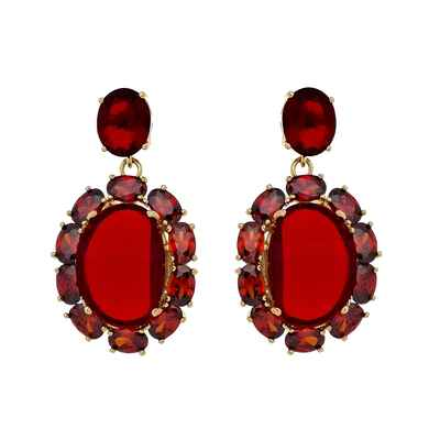 Red bracelets, earrings, necklaces & other jewellery
