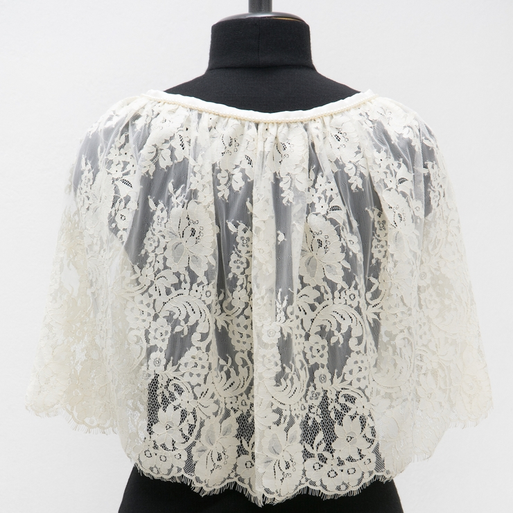 Romantic vintage feel lace bridal cover up