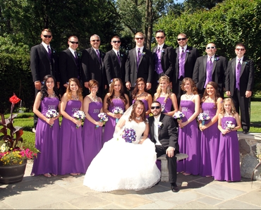 Purple bridesmaids