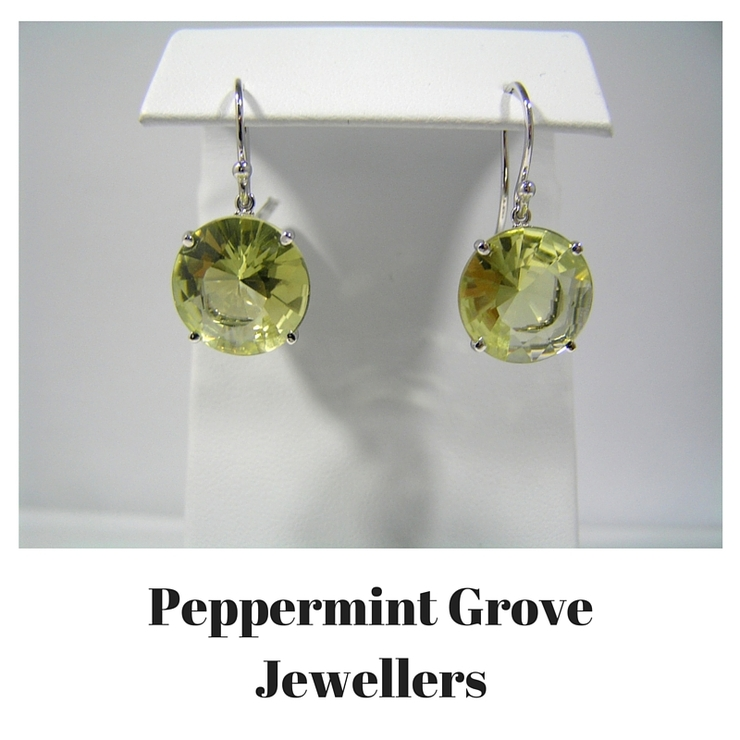 Precious Gemstone and Diamond Earrings and pendant