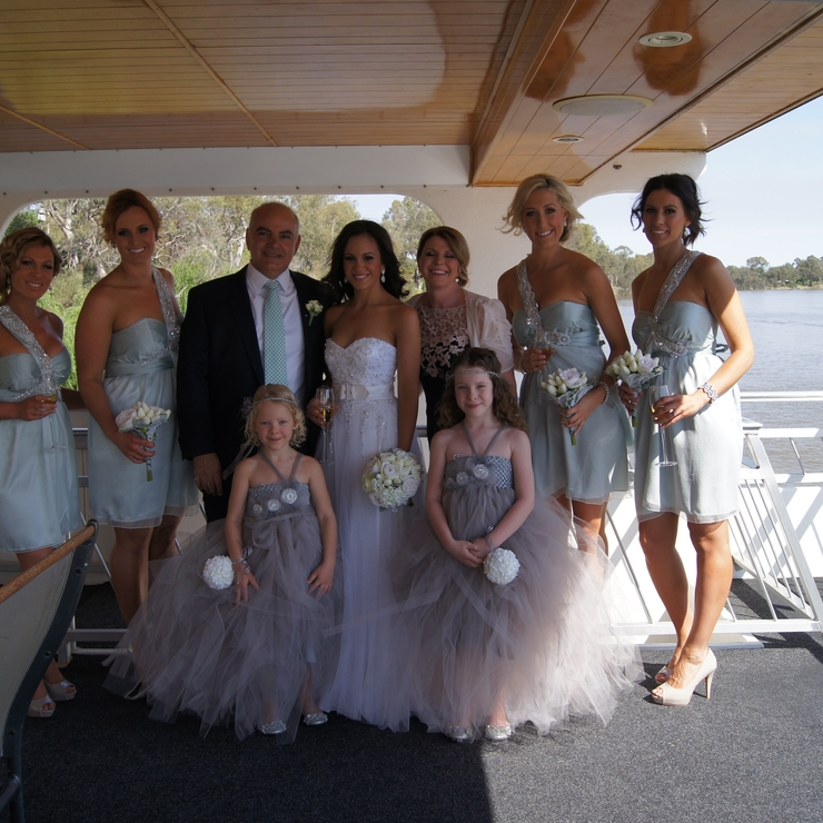 Wedding photos on board