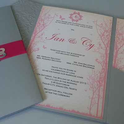 Grey wedding invitations