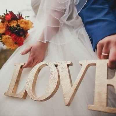 Gold wedding signs