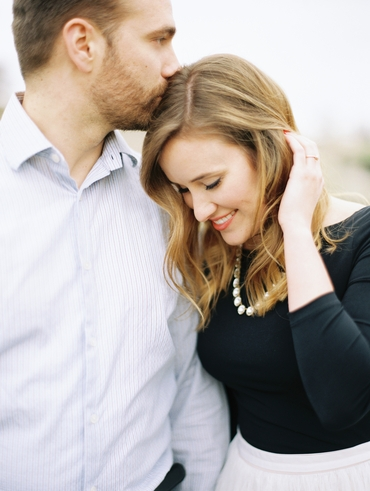Outdoor white engagement