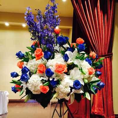 White wedding reception decor