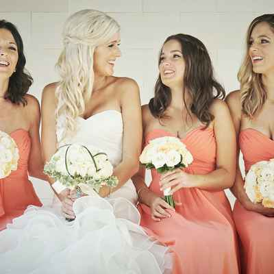 Orange bridal hair and make-up