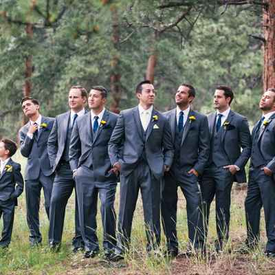 Outdoor black groom style
