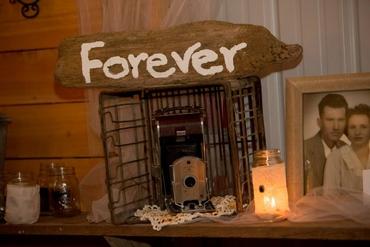 Brown wedding reception decor