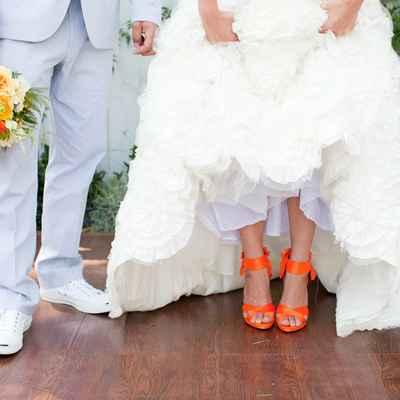 Orange bridal style