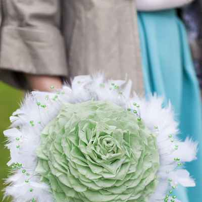 Green alternative wedding bouquet
