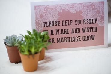 Green wedding favours