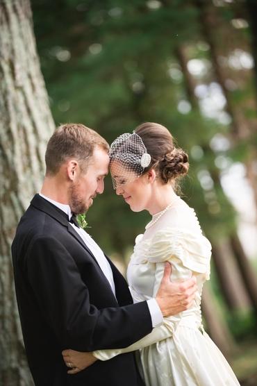Ivory bridal hair and make-up