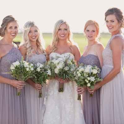 Purple outdoor bridal hair and make-up