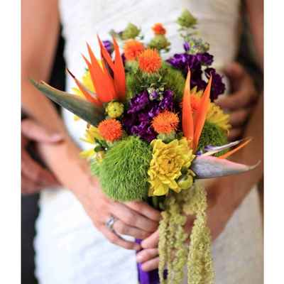 Autumn purple alternative wedding bouquet