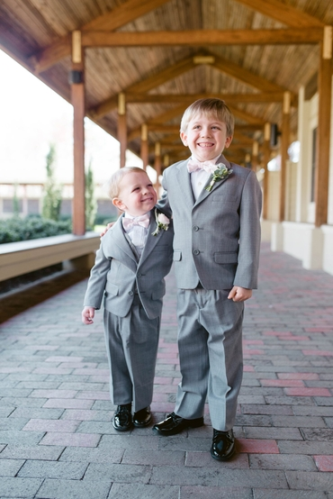Grey kids at wedding