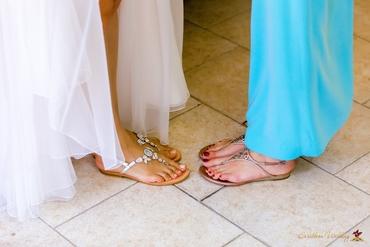 Beach bridal style