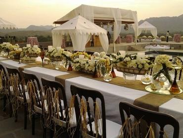 Ethnical wedding reception decor