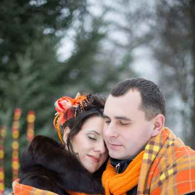 Winter orange real weddings